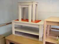 Cream Coffee Table and matching Nest of Tables / Lamp Table Pair