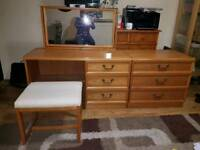 G Plan Dressing Table, Chest Of Drawers & Stool