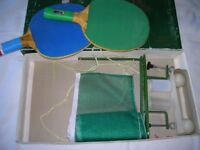 Table tennis set boxed £ 2.50 plus additional 2 bat mini set brand new unopened for £2