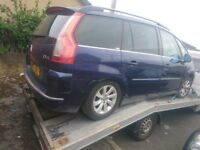 Citroen C4 grand picasso breaking spare parts exclusive semi auto 1.6 hdi blue