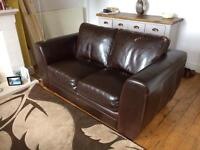 2 Seater and 3 Seater Leather Sofas