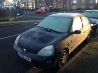 2008 Renault Clio 110k mot July spares repair