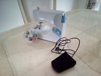 PORTABLE Double Thread SEWING MACHINE +Accessories. NOT USED.