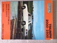 Triumph 2000-2500 Repair Manual
