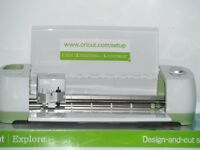 Cricut Explore Machine Mega Bundle 4 Cartridges Card and Vinyl