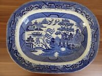 Antique Swansea 1850-1860 very large (18 inches wide) meat plate