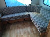 Hobby caravan end sofa with cushions camper van conversion