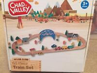 NEW Chad Valley wooden train set