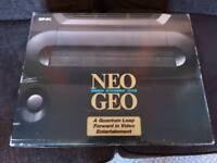 SNK Neo Geo AES boxed console and Art of Fighting Game