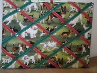 Handmade message notice board dog images