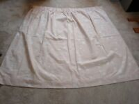 Pair of pale pink star Next curtains - excellent condition