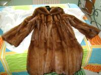 Long Mink Coat with hood