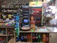 Off license grocery shop with 3 bedroom flat
