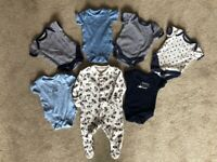 £1. Baby items x 7. 6lb + 1 month baby gro.