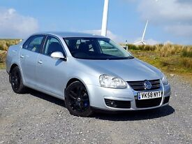 2008 58 Volkswagen Jetta 2.0TDi 140, New MOT, FSH, 91k, Cruise control, Black Alloys, A/C, 6-speed,