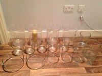 Wedding Decorations- 18 x glass vases/ hurricane lamps
