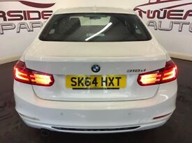 BMW 3 SERIES 2.0 318d Sport 4dr (start/stop) (white) 2014