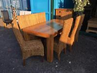 """Oak furniture land """"Mantis"""" 8 seat dining set"""