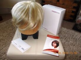 UNUSED QUALITY SHORT BLONDE WIG- BY BROWNS PLYMOUTH