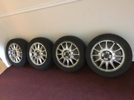 Ford Mondeo Mk1/Mk2 16'' Alloy Wheels & 4 Good Tyres, 4 Stud, 1993-2000
