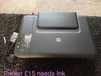 HP printer just needs ink
