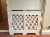 Lovely white radiator cover - 2 years old - good condition
