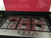 5 Ring Chrome Whirlpool gas Hob - BRAND NEW IN BOX