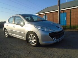 09 peugeot 207 1.6 hdi sport t diesel 5 dr silver 99k full s h lady owner very clean low ins £30 tx