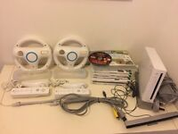 Wii Console, games, accessories and fit board