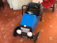Beautiful Metal Vintage Childs Pedal Car. 1940's. FREE DELIVERY. Children's Classic Retro Toy Game