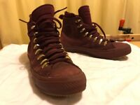 """Unisex waterproof """"Counter Climate"""" Converse Chuck II """"Cute to Boot"""" """"deep bordeaux"""" shoes, like new"""