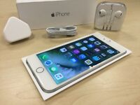 Boxed Silver Apple iPhone 6 Plus 128GB Factory Unlocked Mobile Phone + Warranty