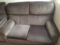 Sofa 3 piece grey . free free