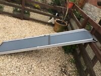 Extending dog ramp for car, never used, suitable for dogs up to 80kg