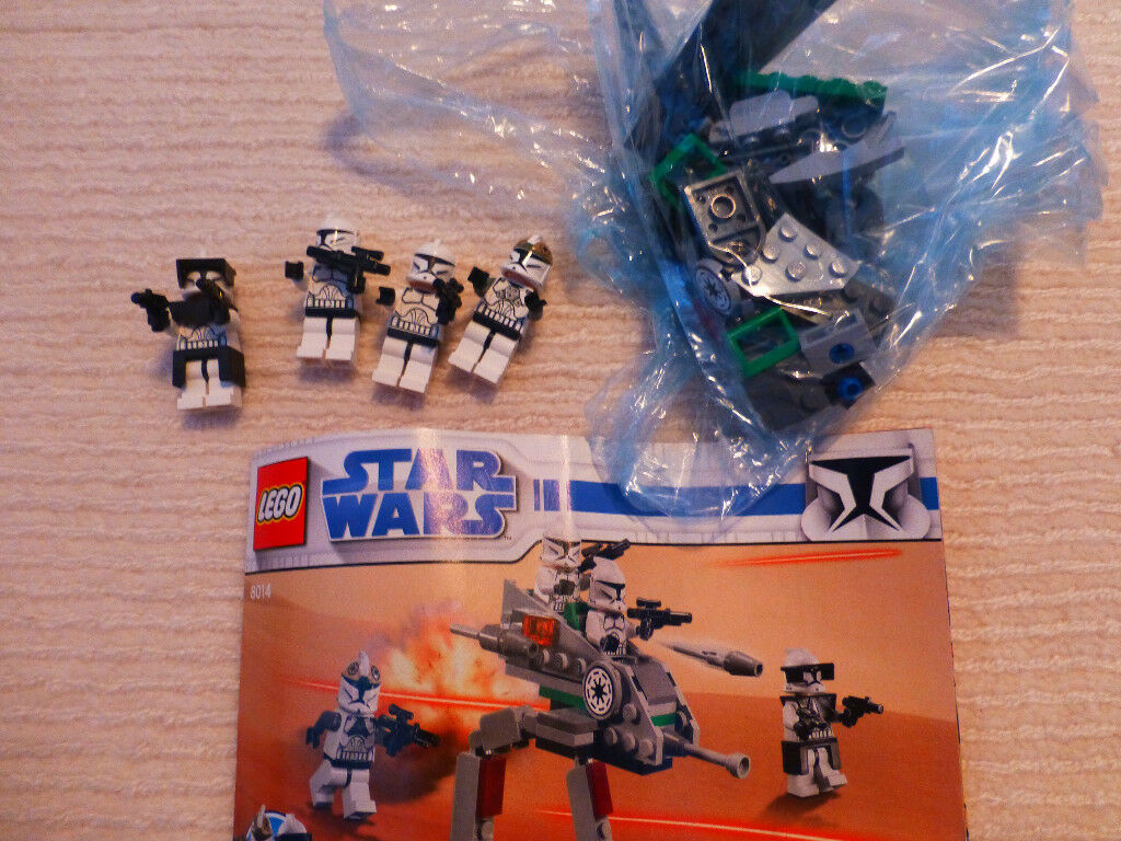 Starwars Lego 8014 Clone Walker Battle Pack 100 Complete In