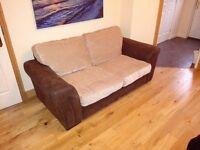 Brown / Beige Sofa bed