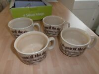 A SET OF 4 SOUP MUG'S. -- STILL AS NEW -- 350 M/L Capacity each,
