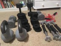 Mix of weights and dum bells