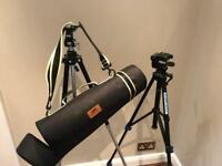 Two tripods for sale with bag
