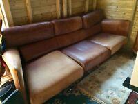 1960's Leather Sofa