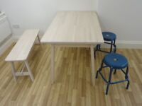 IKEA dining table set with two stools. Hardly used!