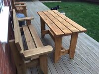 Garden bench sanding and re-staining service. From £65.00 Free quotes in the Vale area.