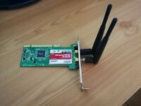 802.11N 300Mbps Wireless LAN PCI CARD WiFi Network Adapter for Desktop PC + 2 Antennas