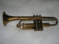 Holton Collegiate Trumpet with 3 Mutes & Vincent Bach Case.