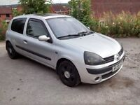 2005 Renault Clio 1.2L 16v 3dr, MOT Mar17, 110K miles, sunroof, CDradio, alloys