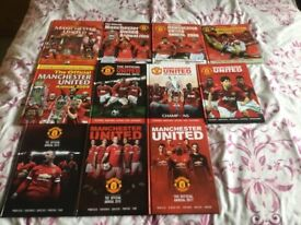 Set of Manchester United Official Football Annuals