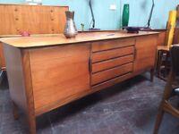 Teak Sideboard with 4 Drawers. Retro Vintage Mid Century
