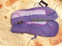 Childs Head Junior Ski Mittens. Purple & Pink – Size S