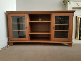 Solid wood side TV unit