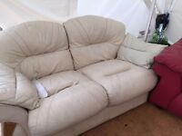 FREE selection of 3, 4 seater sofas and armchairs and foot stool (some leather)
